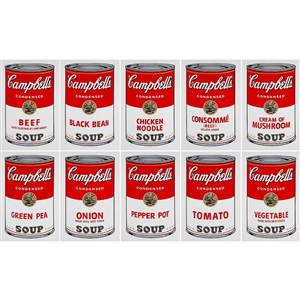 campbells soup can portfolio set of 10 by sunday b morning