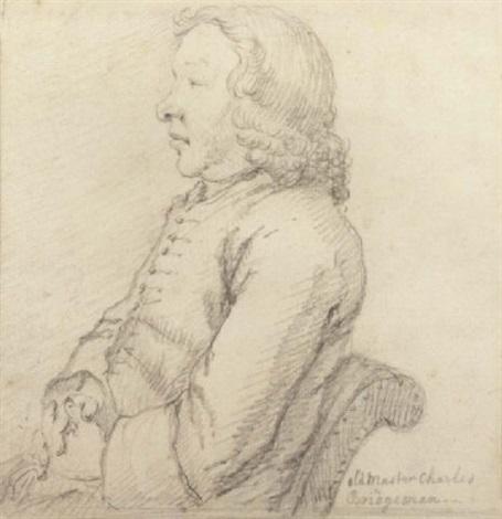 portrait of charles bridgeman seated by sir james thornhill