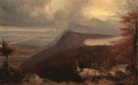 view of the catskill mountain house and the catskills by e.d. hawthorne