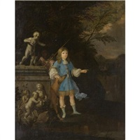 portrait of a boy, possibly john arundell, baron arundell of trerice (1649-1698) by gaspar (smits, smith) smitz
