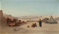 view of jerusalem from the north, facing damascus gate by charles théodore (frère bey) frère