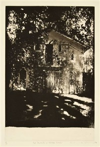 chateau cheval blanc (+ 6 others, irgr; 7 works) by norman ackroyd