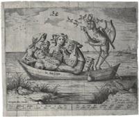 die blau schuyte: the ship of depravity (by pieter van der heyden) by hieronymus bosch