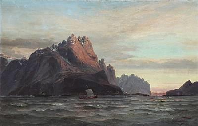 vaagekallen lofoten norge by edvard skari