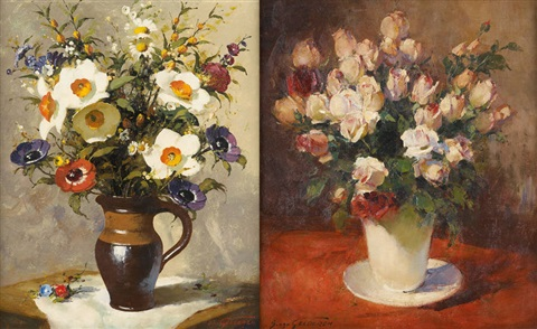 vases fleuris 2 works by simon van gelderen