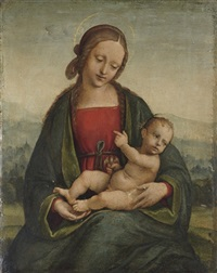 the madonna and child with a goldfinch by alberto piazza