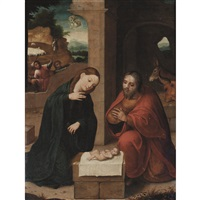 adoration of the christ child by flemish school