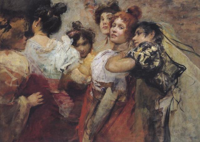 venezianerinnen vor dem ball by cecil van haanen