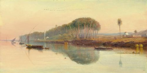 sheik abadeh on the nile by edward lear