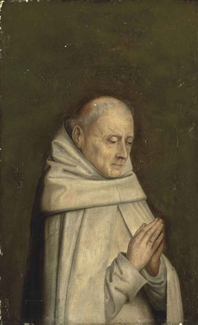 a carthusian monk in prayer by dieric bouts the elder