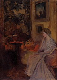 dame im boudoir by alfred sohn-rethel