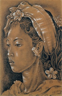 portrait of a balinese girl by anak agung gede sobrat