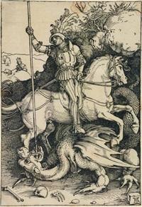 saint georges tuant le dragon by albrecht dürer