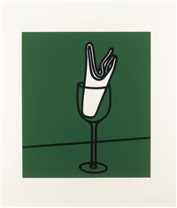 watch me eat, without appetite, à la carte; and her handkerchief swept me along the rhine (2 works from some poems of jules laforgue) by patrick caulfield