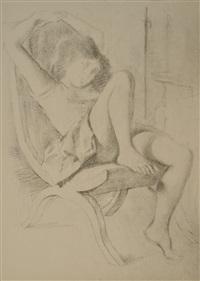 jeune femme assise by balthus