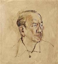 portrait of noël coward by derek hill