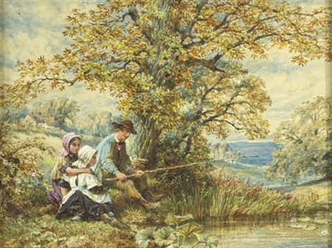 summer fishing by james wells champney