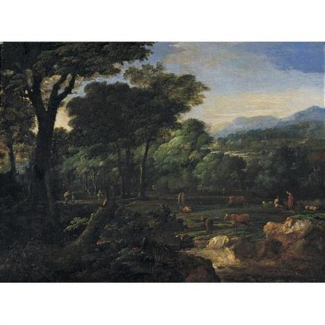 pastoral landscape by eglon hendrik van der neer