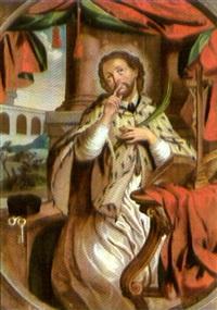der heilige nepomuk (+ der heilige karl borromäus; 2 works) by anna barbara abesch
