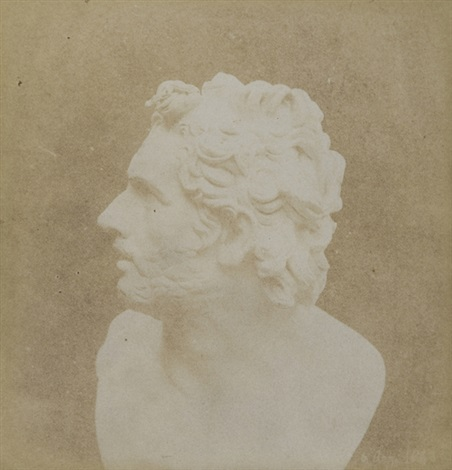 bust of patroclus the pencil of nature by william henry fox talbot