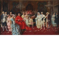 visit with cardinal and the borghese family by natale attanasio