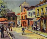 parisian street scene by george hann