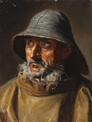 A fisherman from Skagen by Michael Peter Ancher on artnet