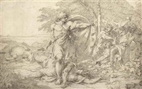 a classical subject: possibly the aftermath of a battle by john hamilton mortimer