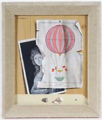 trompe-l'oeil-stilleben mit muscheln, einer auf holz fixierten fotografie und zeichnung by piero antonelli