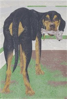 dog with bone by david alexander colville
