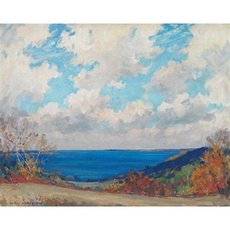 bay of quinte at glenora by manly edward macdonald