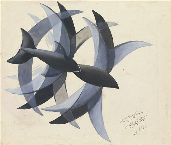 Volo Di Rondini By Giacomo Balla On Artnet
