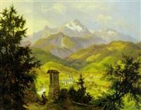stille andacht - blick auf berchtesgaden by eduard karl biermann