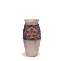 vase médaillons à fleurs by gabriel argy-rousseau