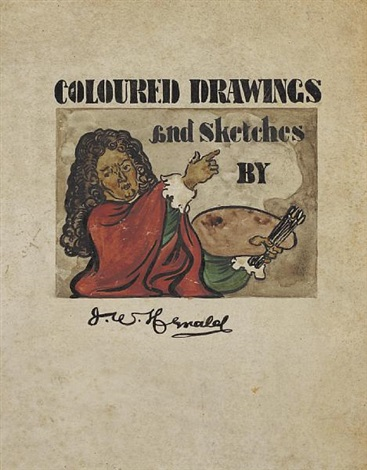 colored drawings and sketches 16 works by james watterston herald