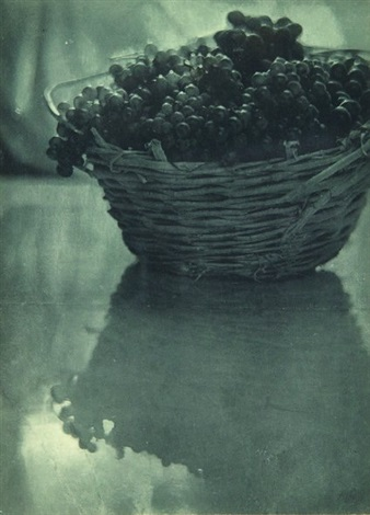 still life with basket of grapes by adolph de meyer