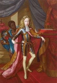 kaiser josef i. als römisch-deutscher könig, mit den insignien des heiligen römischen reiches by gerard duchateau