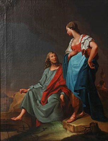 jesus and the samaritan woman at the well by anonymous 18