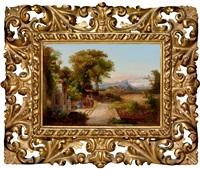 scene in italian landscape by karoly marko the elder