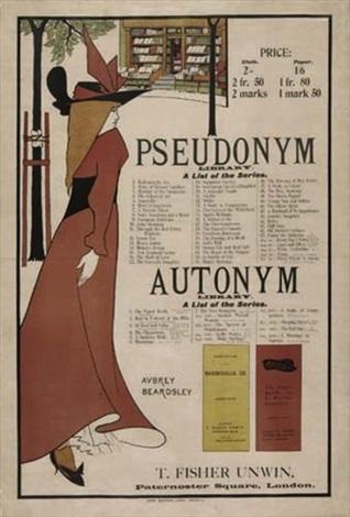 pseudonymautonym library by aubrey vincent beardsley