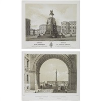 views of st. petersburg (2 works) by jules arnout