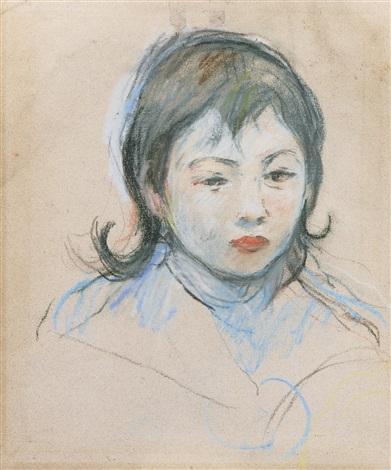 portrait d'enfant (charly thomas) by berthe morisot