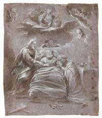 la mort de saint joseph by bernardino lanino