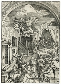 the birth of the virgin, from the life of the virgin by albrecht dürer