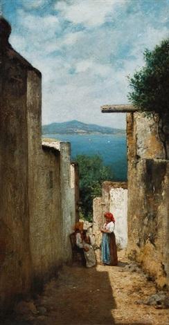 motiv aus anacapri blick auf ischia by curt agthe