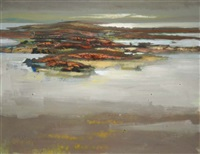 low tide, roundstone by arthur armstrong