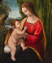the madonna and child by bernardino luini