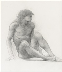 study for the garden of pan by edward burne-jones