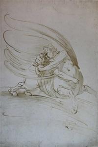 centaure enlevant une femme by luca cambiaso