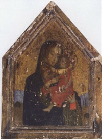 the madonna and child in a landscape by fra angelico